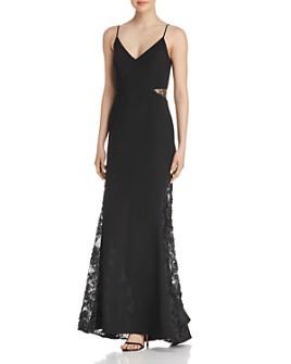 AQUA - Lace-Inset Gown - 100% Exclusive