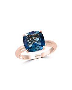 Bloomingdale's Blue Topaz Cushion Statement Ring in 14K Rose Gold - 100% Exclusive _0