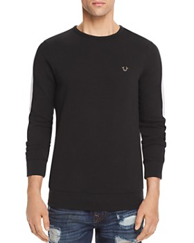 True Religion - Contrast Stripe Crewneck Sweatshirt