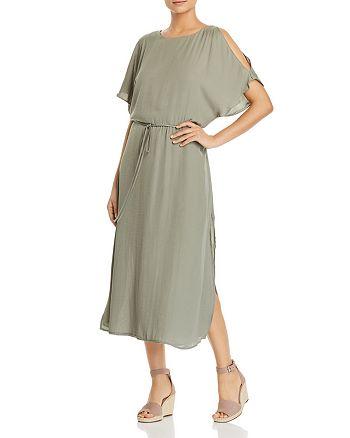 VINCE CAMUTO - Cold-Shoulder Midi Dress