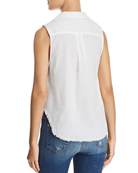 Bella Dahl - Hipster Metallic Embroidered Top