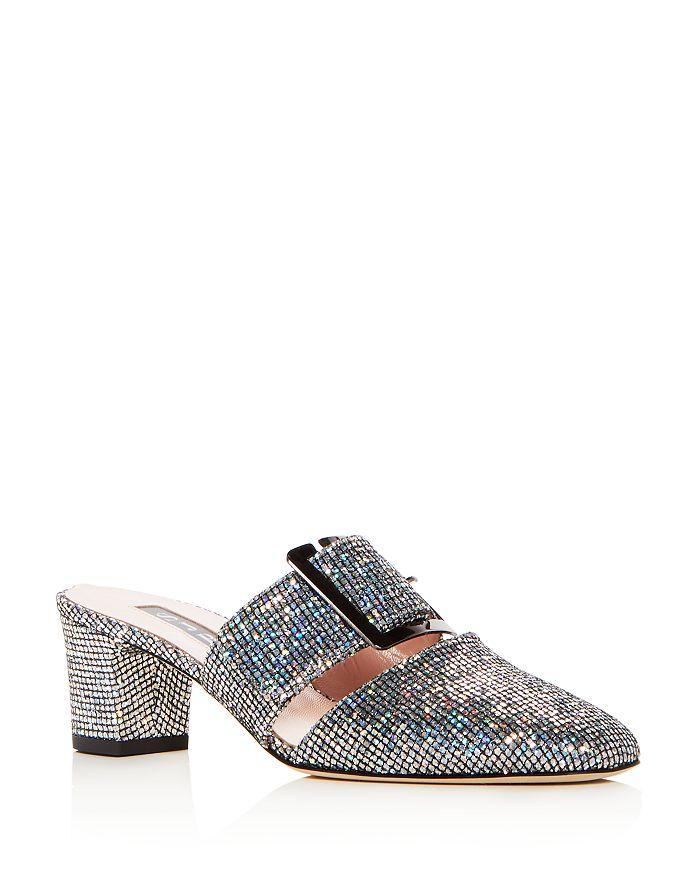b6e54b9c3 SJP by Sarah Jessica Parker Women s Hita Glitter Block Heel Mules ...