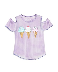 CHASER Girls' Cold-Shoulder Ice Cream Tee - Little Kid, Big Kid - Bloomingdale's_0