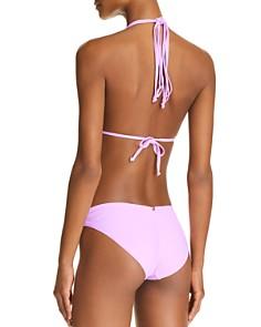 PilyQ - Isla Triangle Top & Basic Ruched Side Bikini Bottom