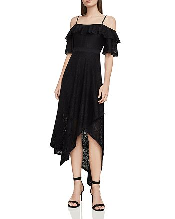 BCBGMAXAZRIA - Demi Cold-Shoulder Lace Midi Dress