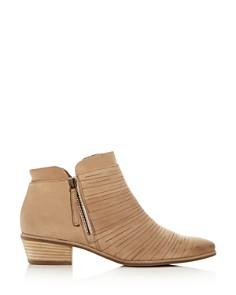 Paul Green - Women's Shasta Sliced Nubuck Leather Mid Heel Boots