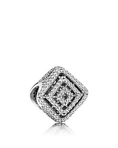 PANDORA Cubic Zirconia & Sterling Silver Geometric Lines Charm - Bloomingdale's_0