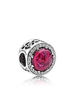PANDORA Sterling Silver & Cubic Zirconia Disney Belle's Radiant Rose Charm - Bloomingdale's_0