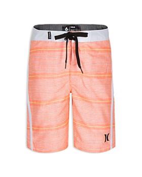 Hurley - Boys' Shoreline Stripe-Print Board Shorts - Big Kid