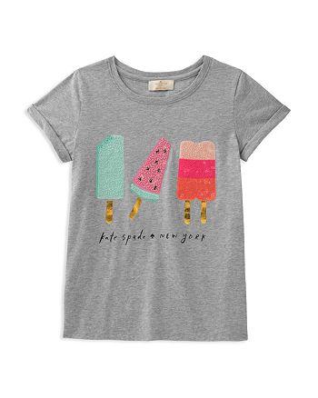 kate spade new york - Girls' Summer Treats Sequin Graphic Tee - Big Kid