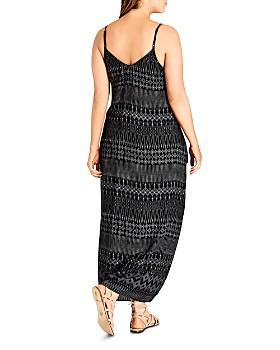 City Chic Plus - Tribal-Print Maxi Dress
