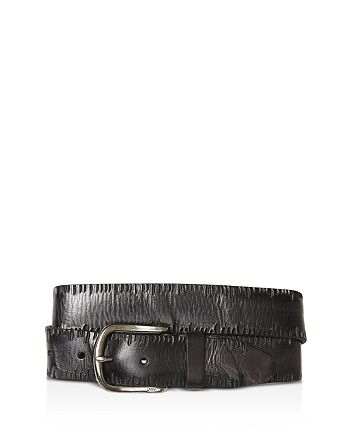 John Varvatos Star USA - Side Stitch Leather Belt