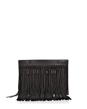 Rebecca Minkoff - Stevie Leather & Suede Fringe Clutch