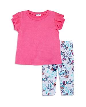Splendid Girls Ruffled Top  FloralPrint Leggings Set  Little Kid