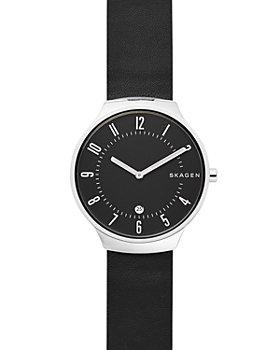 Skagen - Grenen Black Leather Watch, 38mm