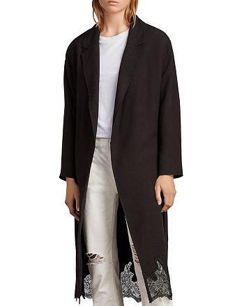 ALLSAINTS - Sandra Lace-Hem Wrap Coat