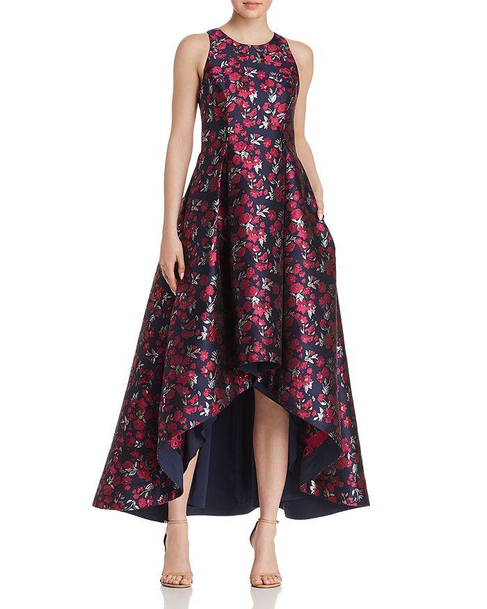 Aidan by Aidan Mattox - Floral Jacquard High/Low Ball Gown