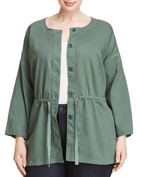 Eileen Fisher Plus - Organic Cotton Drawstring Jacket