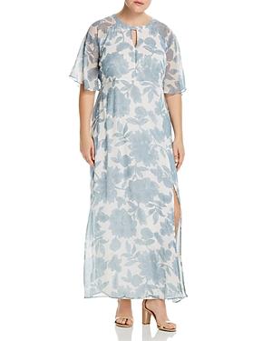New Junarose Plus Floral-Print Maxi Dress, White