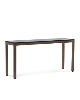 Mitchell Gold Bob Williams - Parsons Console Table - Vintage Brass Finish
