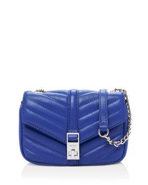 Dakota Quilted Leather Crossbody Bag - Blue, Blueprint