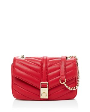Dakota Quilted Leather Crossbody Bag - Red