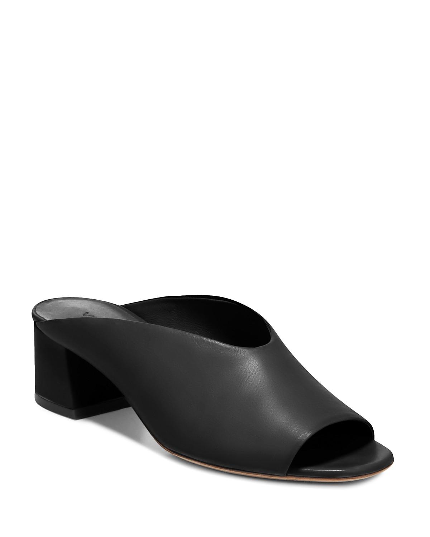 Vince Cachet Leather Mule Sandals Ph6eh