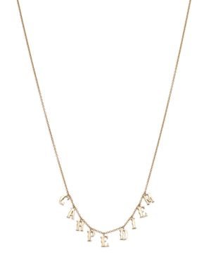 SUEL 14K YELLOW GOLD CARPE DIEM NECKLACE, 20