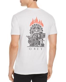 OBEY - Printing Press Graphic Crewneck Tee