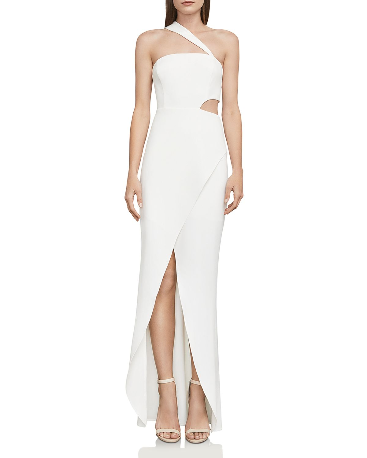 One Shoulder Cutout Gown   100 Percents Exclusive by Bcbgmaxazria