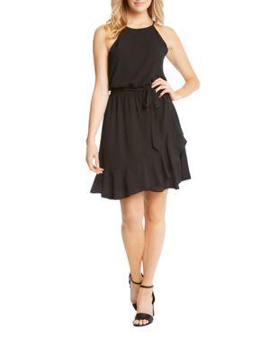 Karen Kane Ruffled Faux-Wrap Dress 2975063