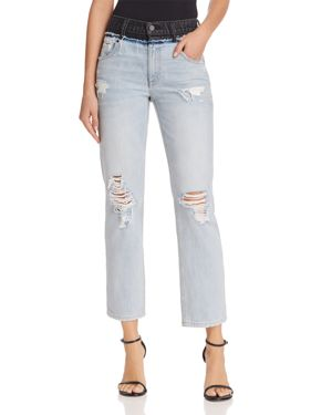 T by Alexander Wang Cult Duo Crop Straight Jeans in Bleach/Gray 2976963