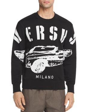 Versus Versace Car Logo Crewneck Sweatshirt
