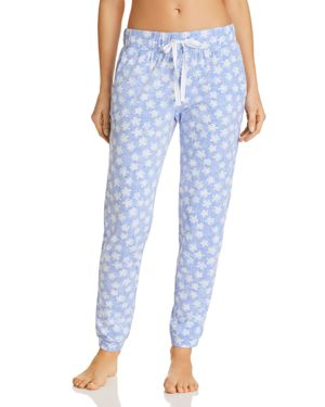 JANE & BLEECKER NEW YORK PRINTED KNIT PJ PANTS