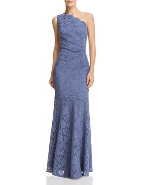 DECODE 1.8 One-Shoulder Lace Gown in Periwinkle