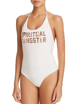 9767ff0185b Spiritual Gangster Retreat Logo One-Piece Swimsuit | Bloomingdale's