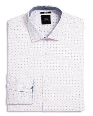 Wrk Pindot Slim Fit Dress Shirt