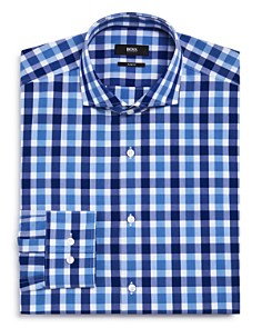 BOSS - Exploded Check Slim Fit Dress Shirt