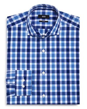 Boss Exploded Check Slim Fit Dress Shirt