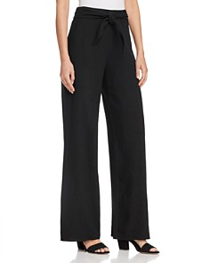 AQUA - Tie-Waist Wide-Leg Pants - 100% Exclusive