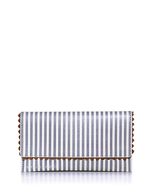 Loeffler Randall EVERYTHING STRIPED LEATHER WALLET