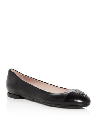 b9765ffbdf6 Taryn Rose Women s Rosa Leather Cap Toe Ballet Flats