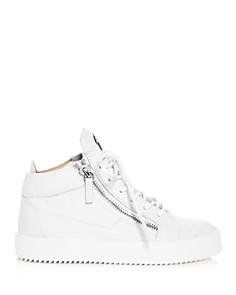 Giuseppe Zanotti - Women's May London Snake & Croc Embossed Leather High Top Sneakers