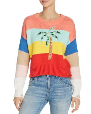 Wildfox Cayman Palm Striped Sweater