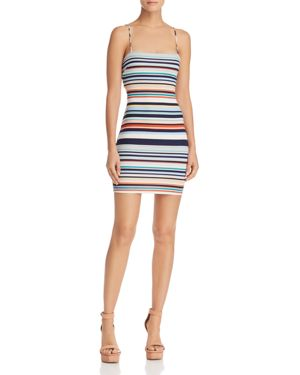 SUNSET & SPRING SUNSET + SPRING STRIPED MINI DRESS - 100% EXCLUSIVE