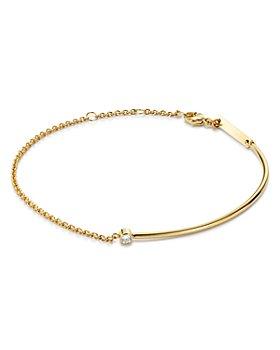 Zoë Chicco - 14K Yellow Gold Wire & Chain Diamond Bracelet