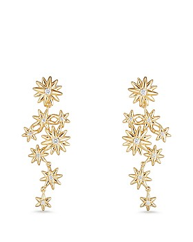 David Yurman - Starburst Constellation Drop Earrings in 18K Gold with Diamonds