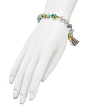 Chan Luu - Tasseled Stone Stretch Bracelet