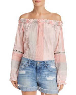 LEMLEM Dera Off-The-Shoulder Top in Pink
