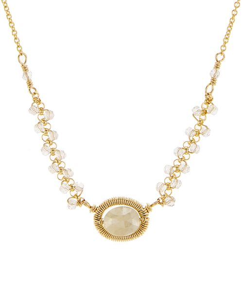 "Dana Kellin - Beaded Pendant Necklace, 16"""